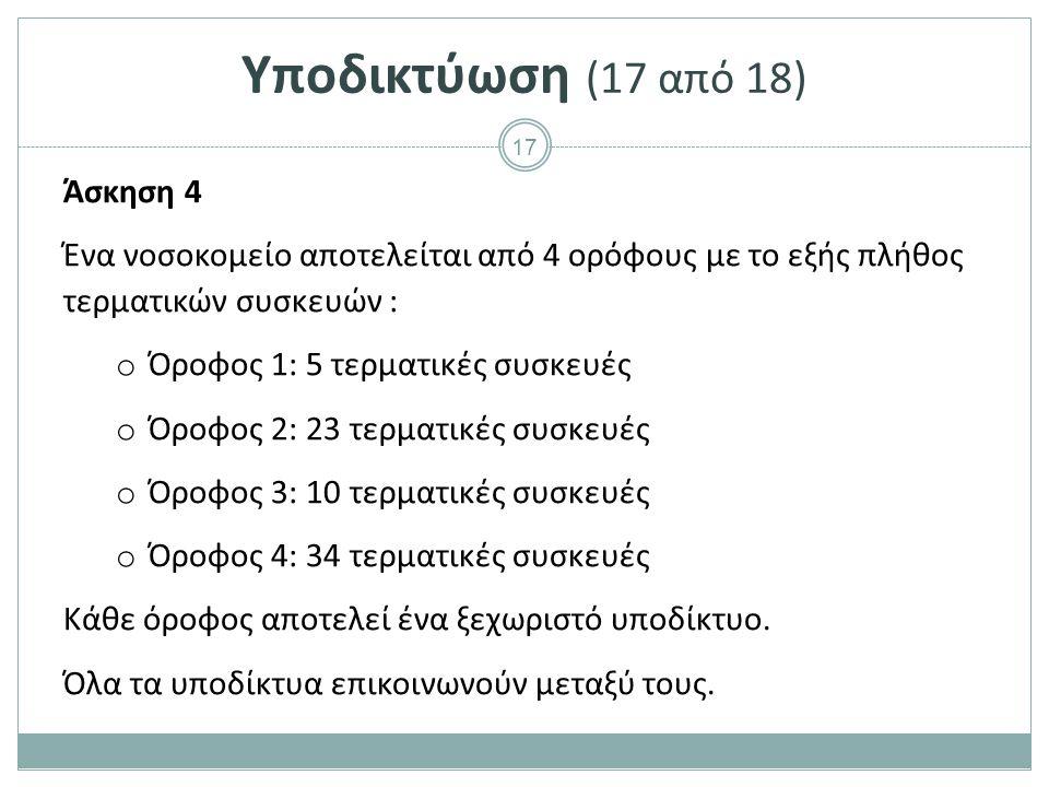 Υποδικτύωση (18 από 18)