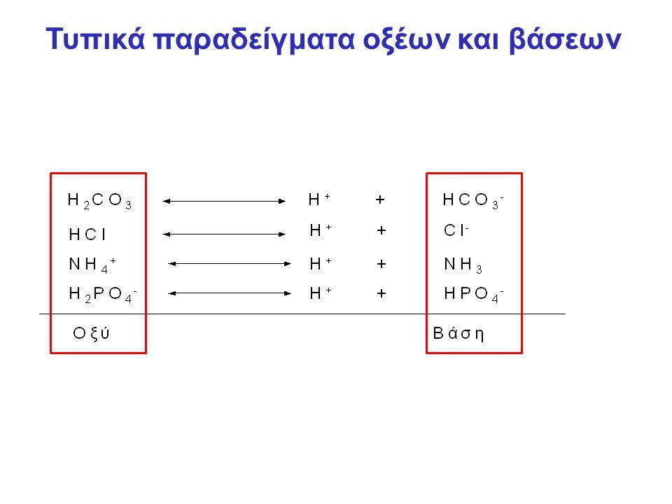 Τυπικά παραδείγματα οξέων και βάσεων