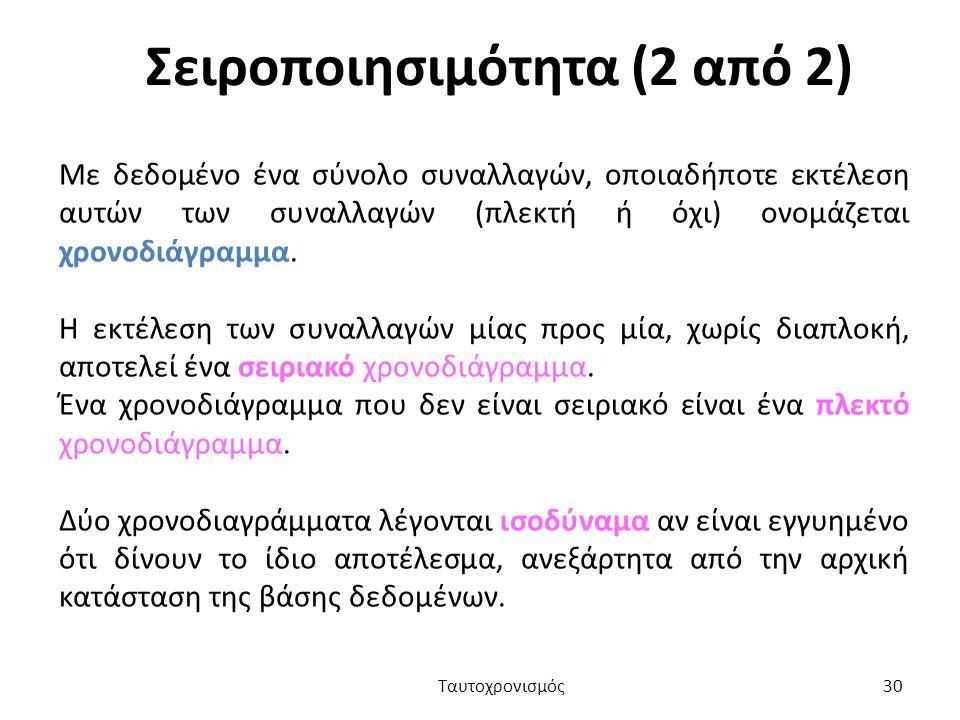 Σειροποιησιμότητα (2 από 2)