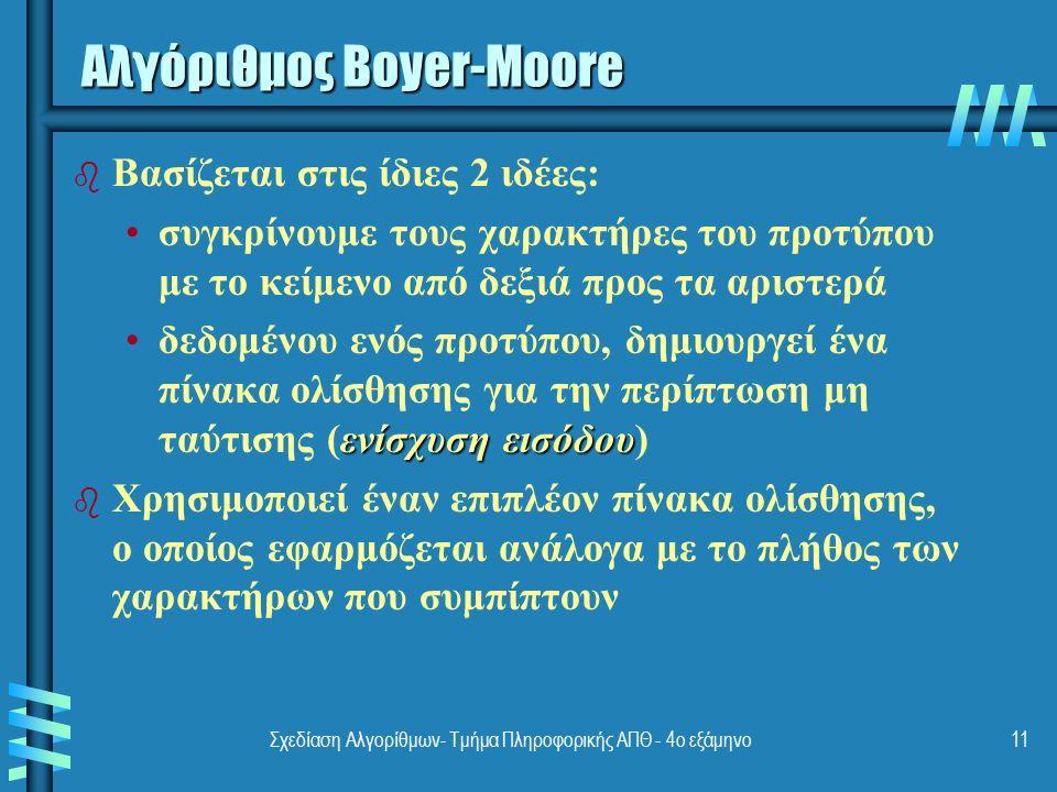 Αλγόριθμος Boyer-Moore