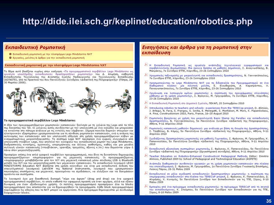 http://dide.ilei.sch.gr/keplinet/education/robotics.php