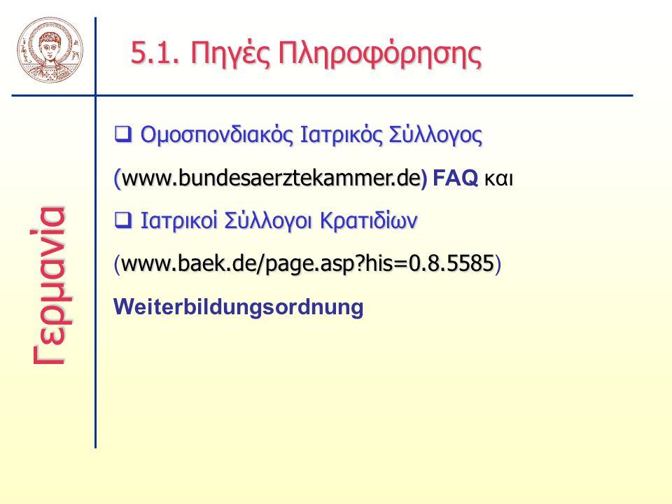 Γερμανία 5.1. Πηγές Πληροφόρησης