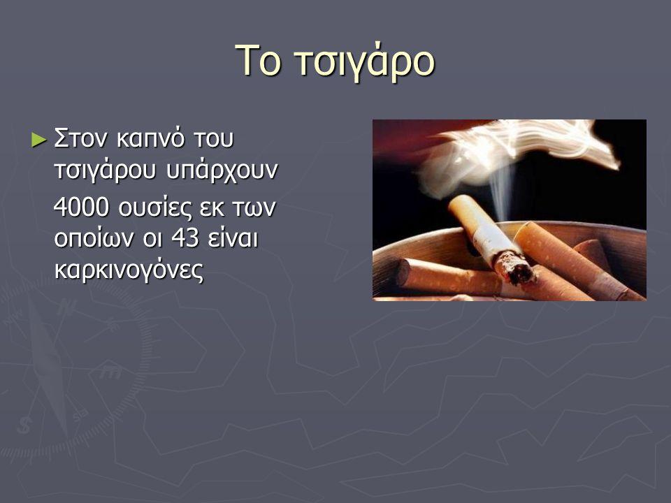 Το τσιγάρο Στον καπνό του τσιγάρου υπάρχουν
