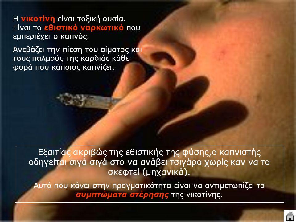 Η νικοτίνη είναι τοξική ουσία