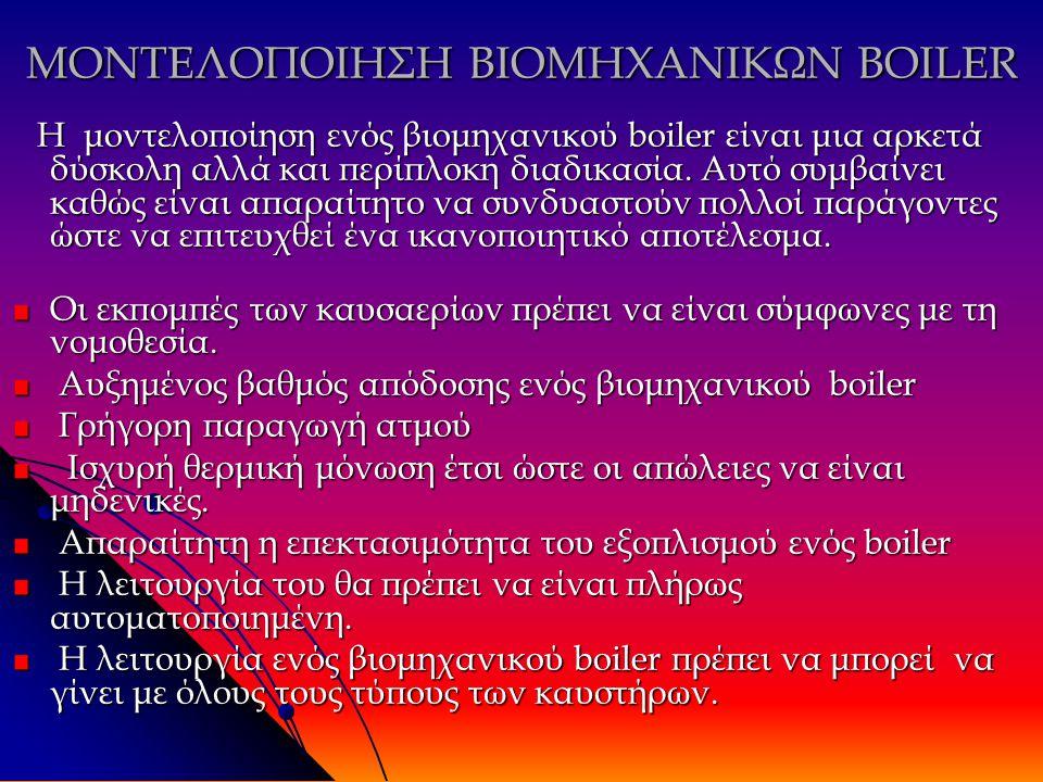 ΜΟΝΤΕΛΟΠΟΙΗΣΗ ΒΙΟΜΗΧΑΝΙΚΩΝ BOILER