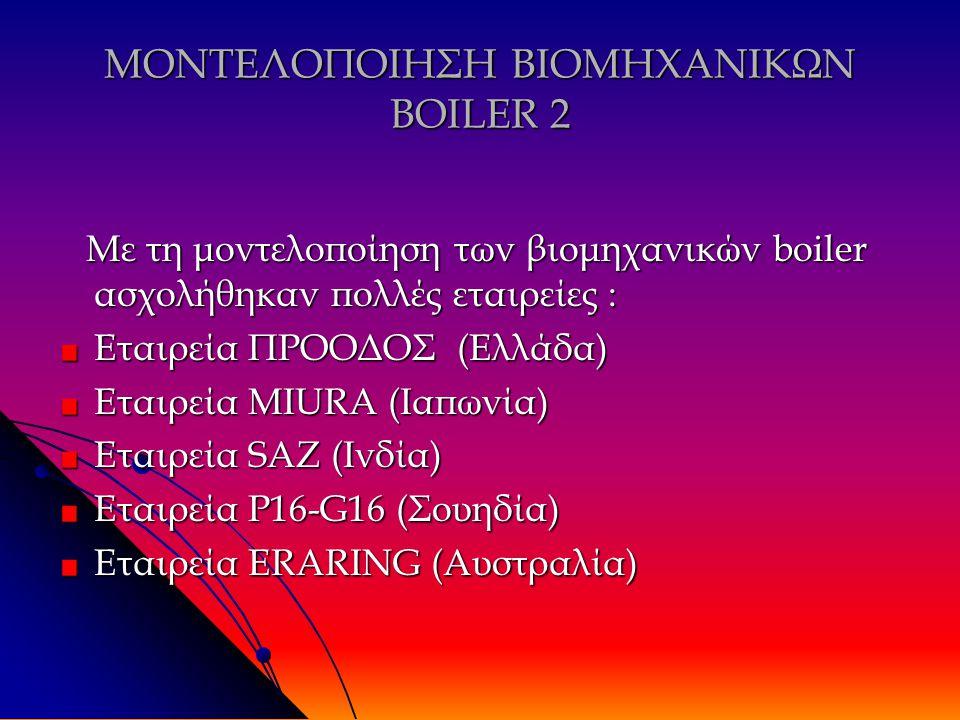 ΜΟΝΤΕΛΟΠΟΙΗΣΗ ΒΙΟΜΗΧΑΝΙΚΩΝ BOILER 2