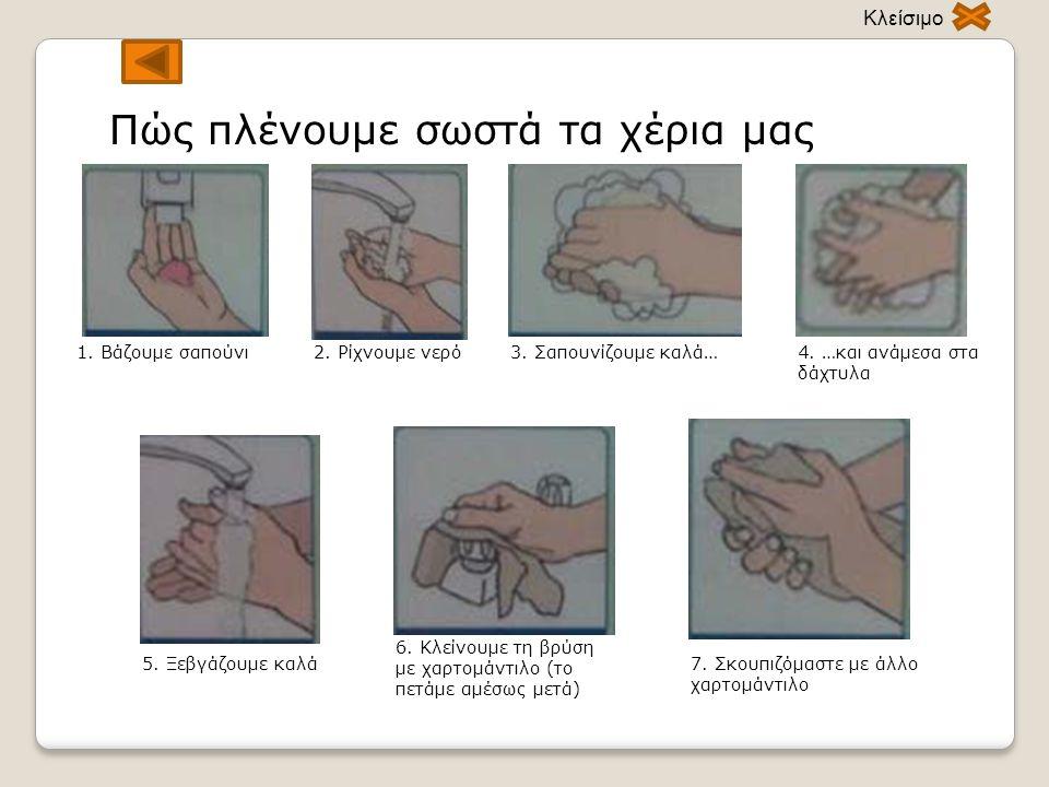 Πώς πλένουμε σωστά τα χέρια μας