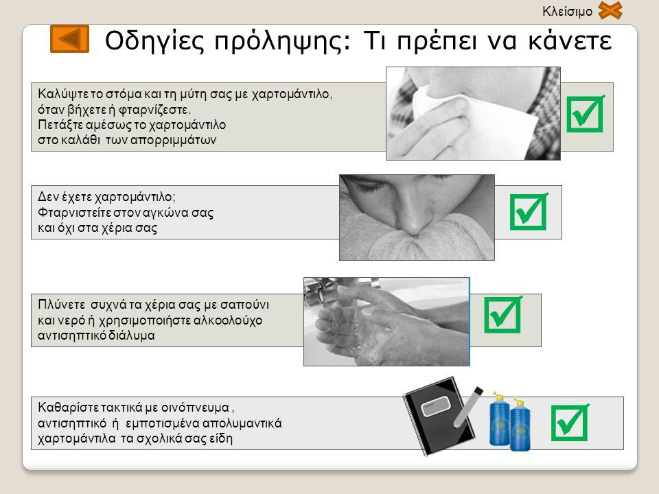     Οδηγίες πρόληψης: Τι πρέπει να κάνετε Κλείσιμο