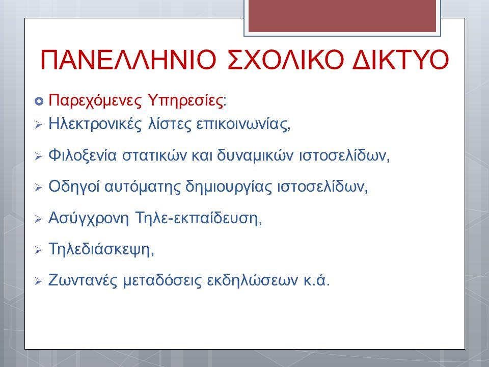ΠΑΝΕΛΛΗΝΙΟ ΣΧΟΛΙΚΟ ΔΙΚΤΥΟ