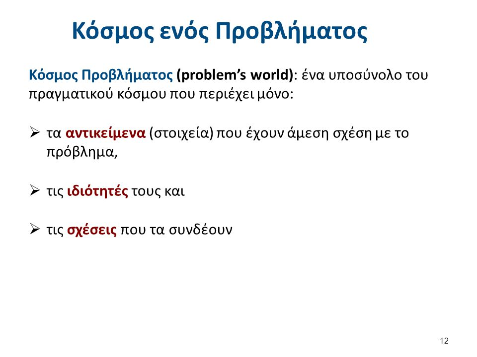 Παράδειγμα 1: Ο κόσμος των κύβων