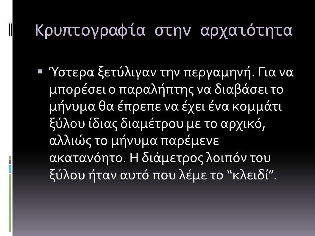 Κρυπτογραφία στην αρχαιότητα