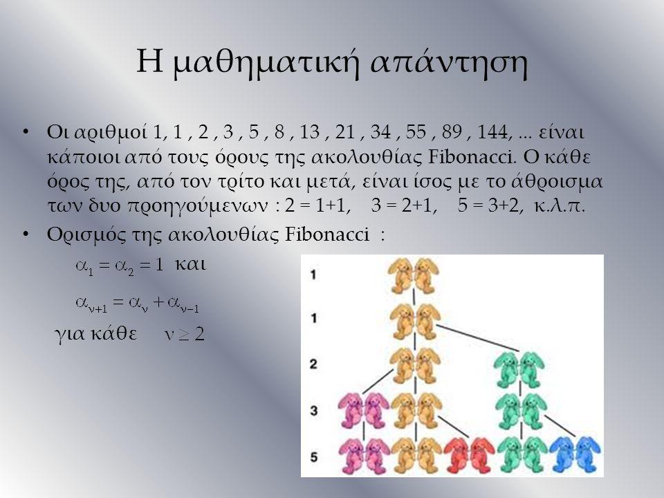 Η μαθηματική απάντηση για κάθε