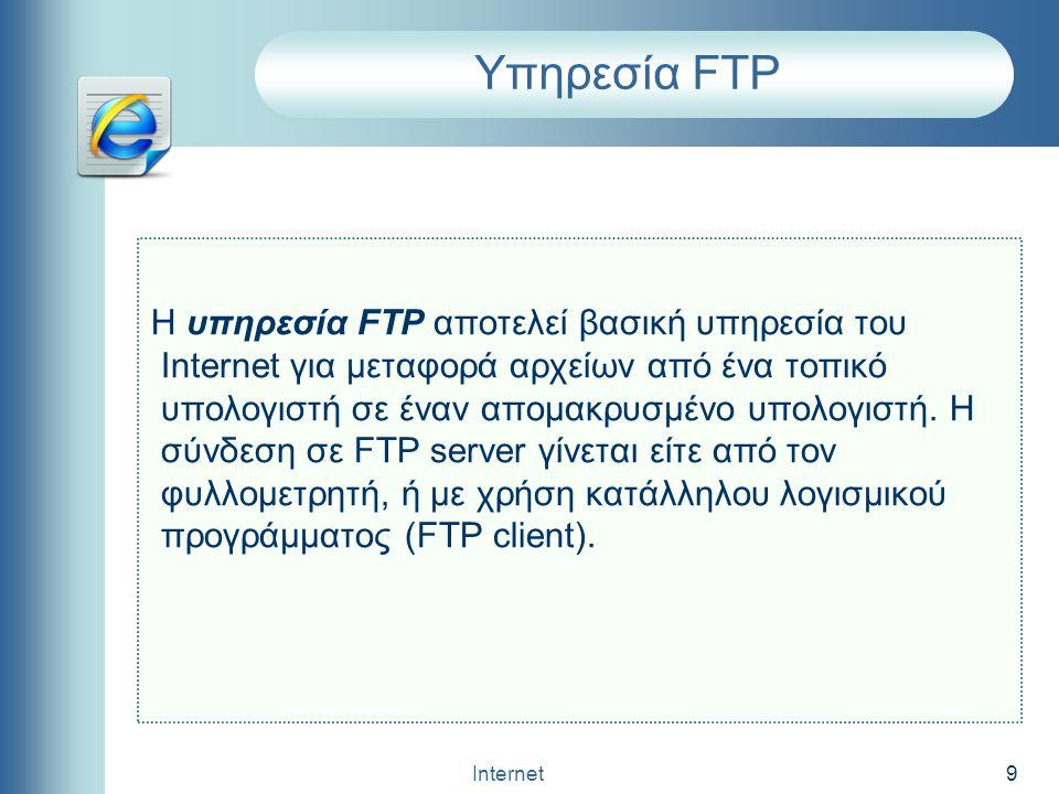 Υπηρεσία FTP
