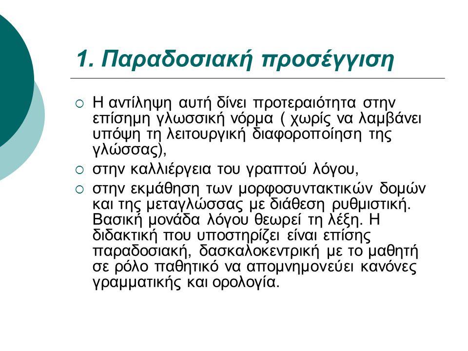 1. Παραδοσιακή προσέγγιση