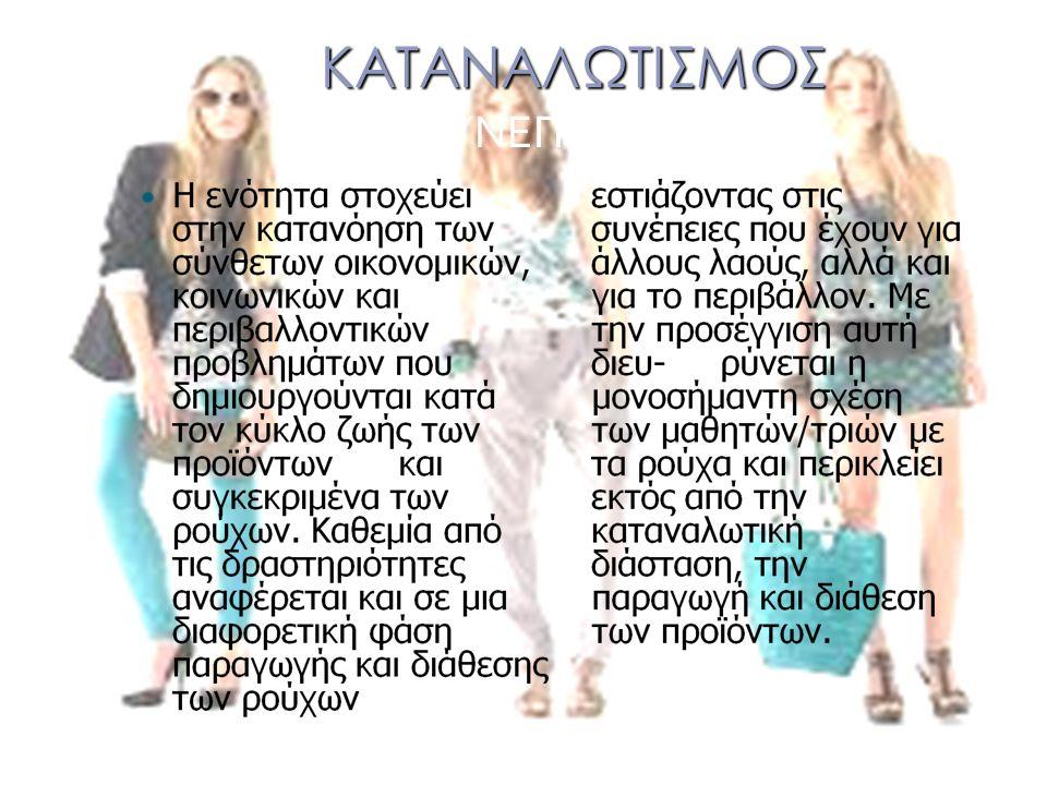 ΚΑΤΑΝΑΛΩΤΙΣΜΟΣ ΣΥΝΕΠΕΙΕΣ