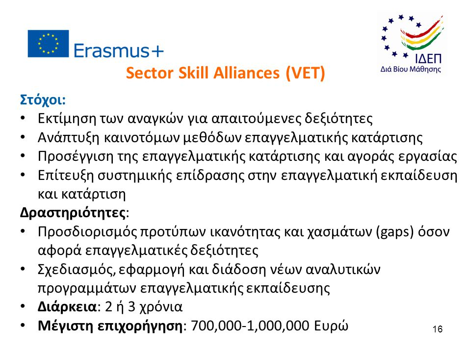 Sector Skill Alliances (VET)