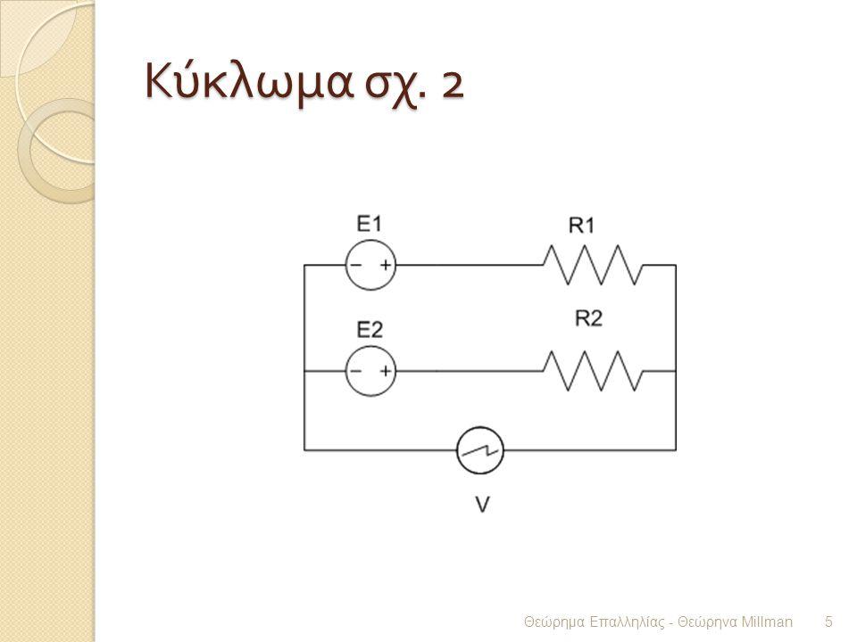 Κύκλωμα σχ. 2 Θεώρημα Επαλληλίας - Θεώρηνα Millman