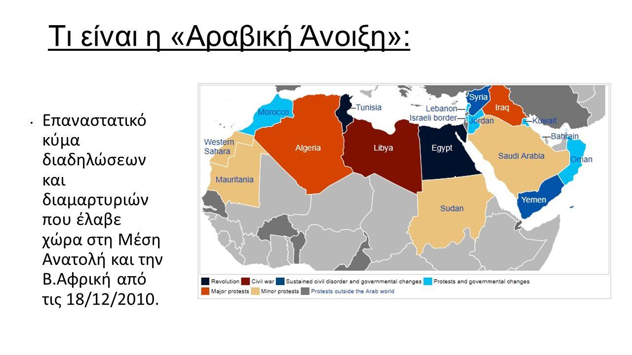 Τι είναι η «Αραβική Άνοιξη»: