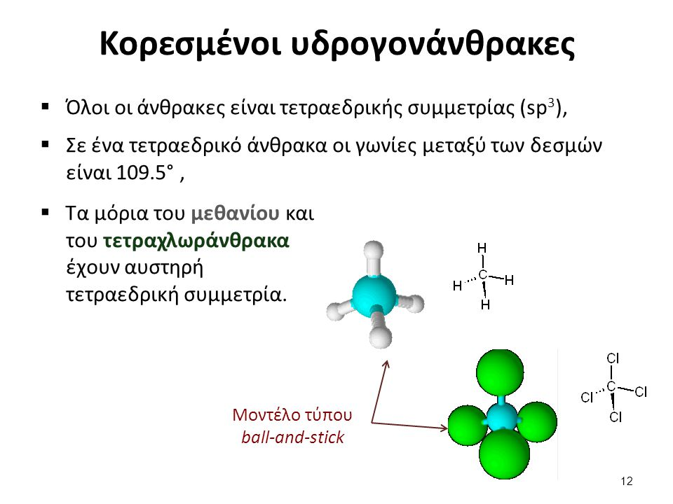Κορεσμένοι υδρογονάνθρακες (συνέχεια)