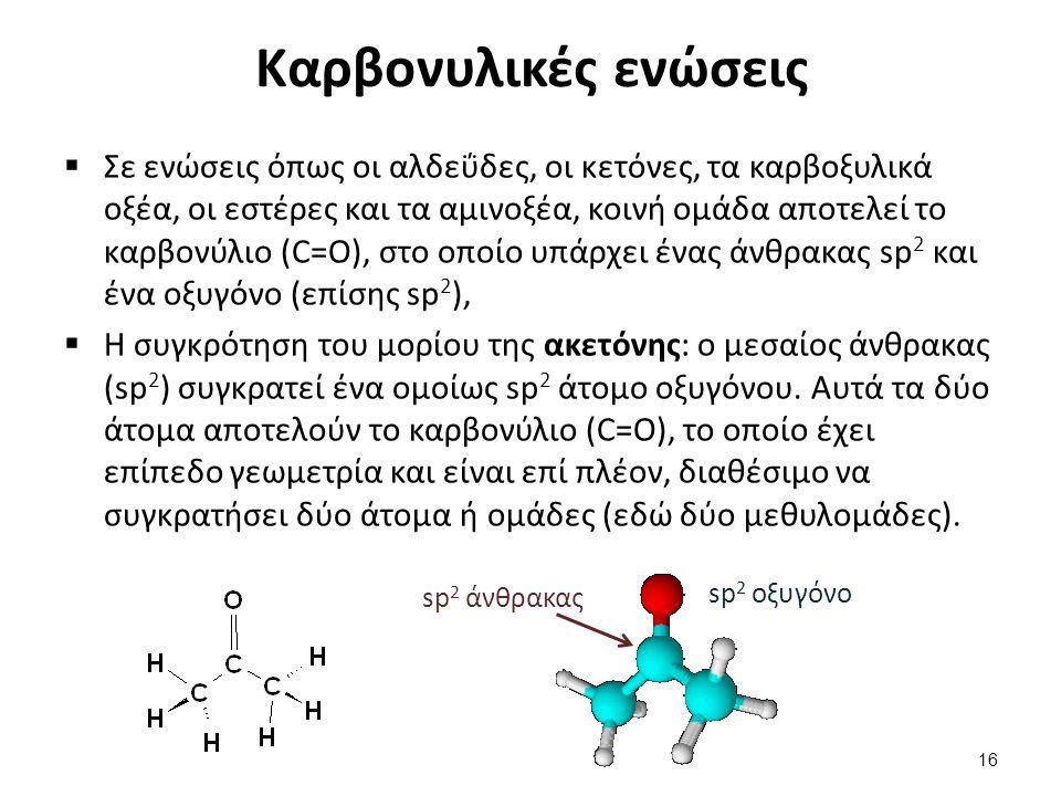 Καρβοξυλικά οξέα Η συγκρότηση του μορίου του οξικού οξέος: