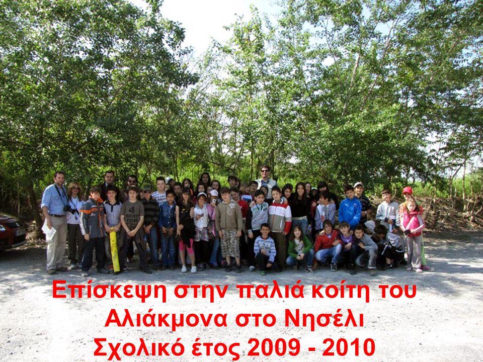 Επίσκεψη στην παλιά κοίτη του Αλιάκμονα στο Νησέλι Σχολικό έτος 2009 - 2010