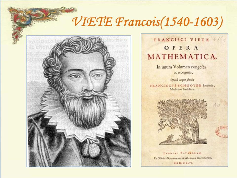 VIETE Francois(1540-1603)