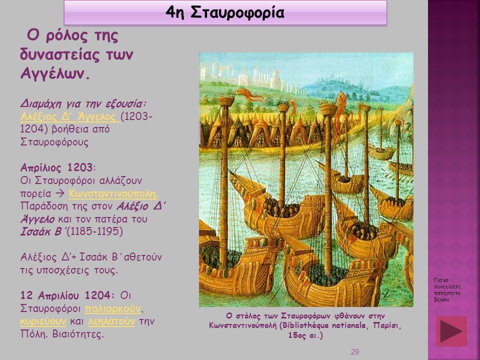 Ο ρόλος της δυναστείας των Αγγέλων.
