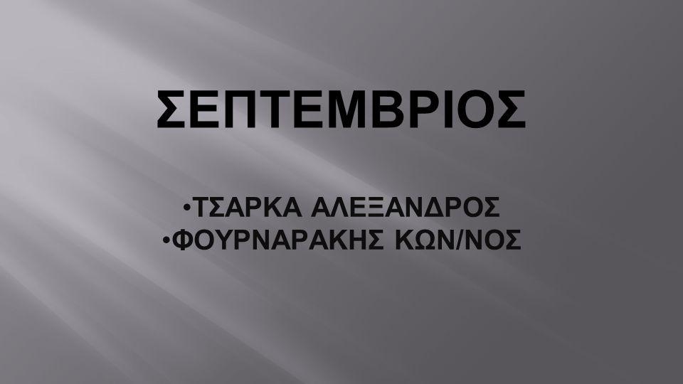 ΤΣΑΡΚΑ ΑΛΕΞΑΝΔΡΟΣ ΦΟΥΡΝΑΡΑΚΗΣ ΚΩΝ/ΝΟΣ