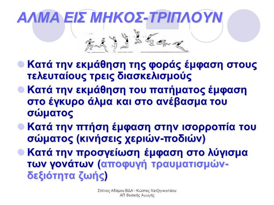 ΑΛΜΑ ΕΙΣ ΜΗΚΟΣ-ΤΡΙΠΛΟΥΝ