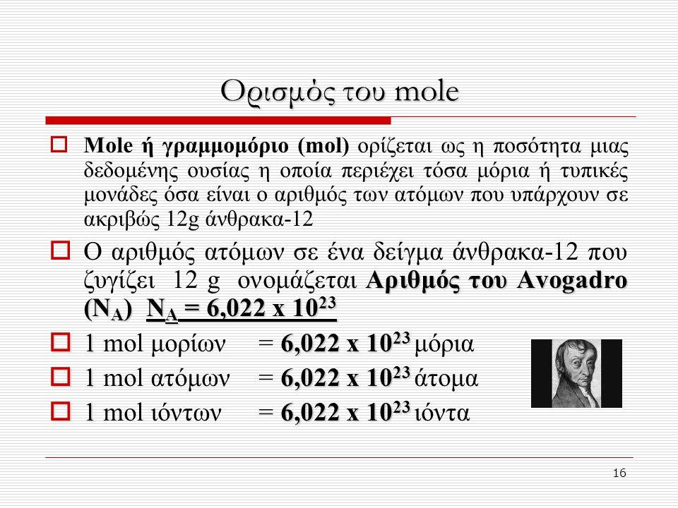 Ορισμός του mole