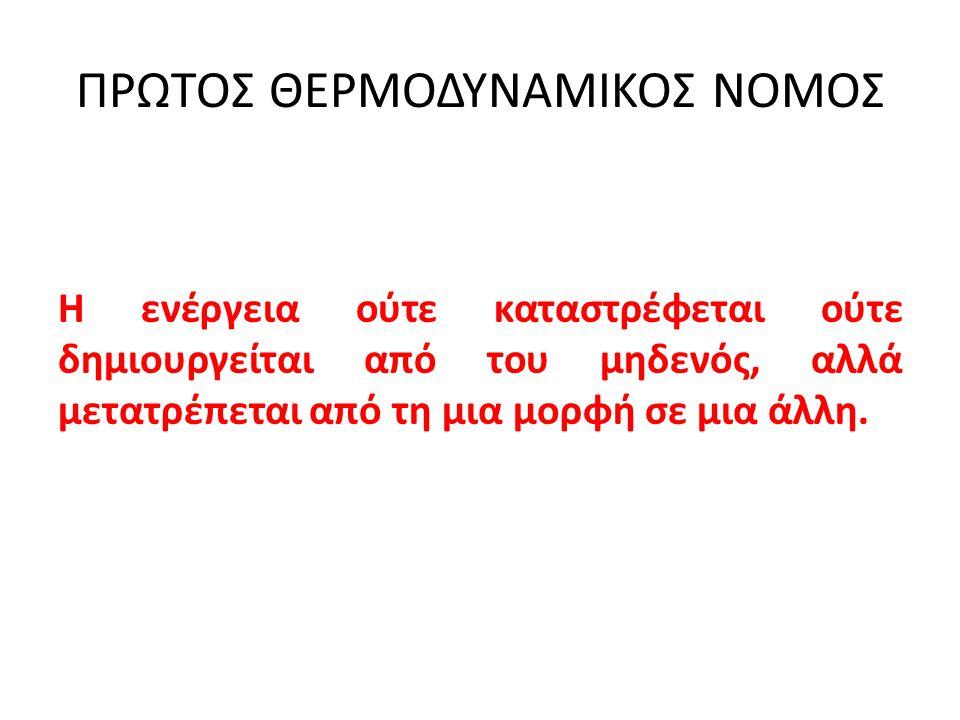 ΠΡΩΤΟΣ ΘΕΡΜΟΔΥΝΑΜΙΚΟΣ ΝΟΜΟΣ