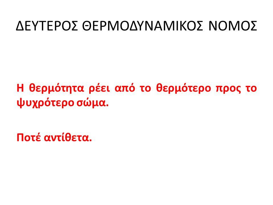 ΔΕΥΤΕΡΟΣ ΘΕΡΜΟΔΥΝΑΜΙΚΟΣ ΝΟΜΟΣ