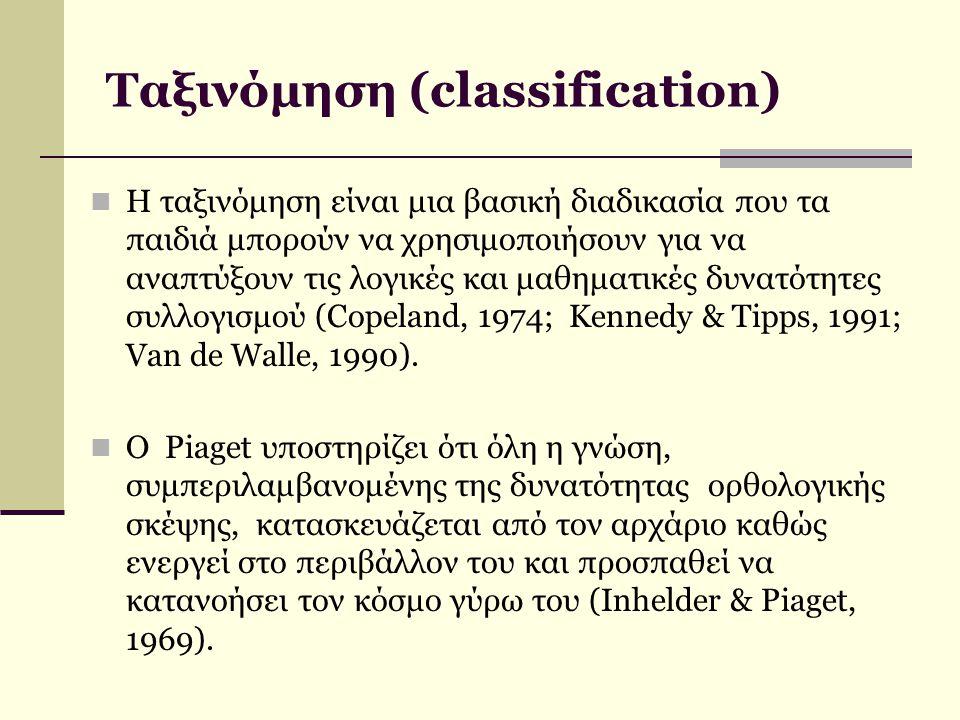 Ταξινόμηση (classification)