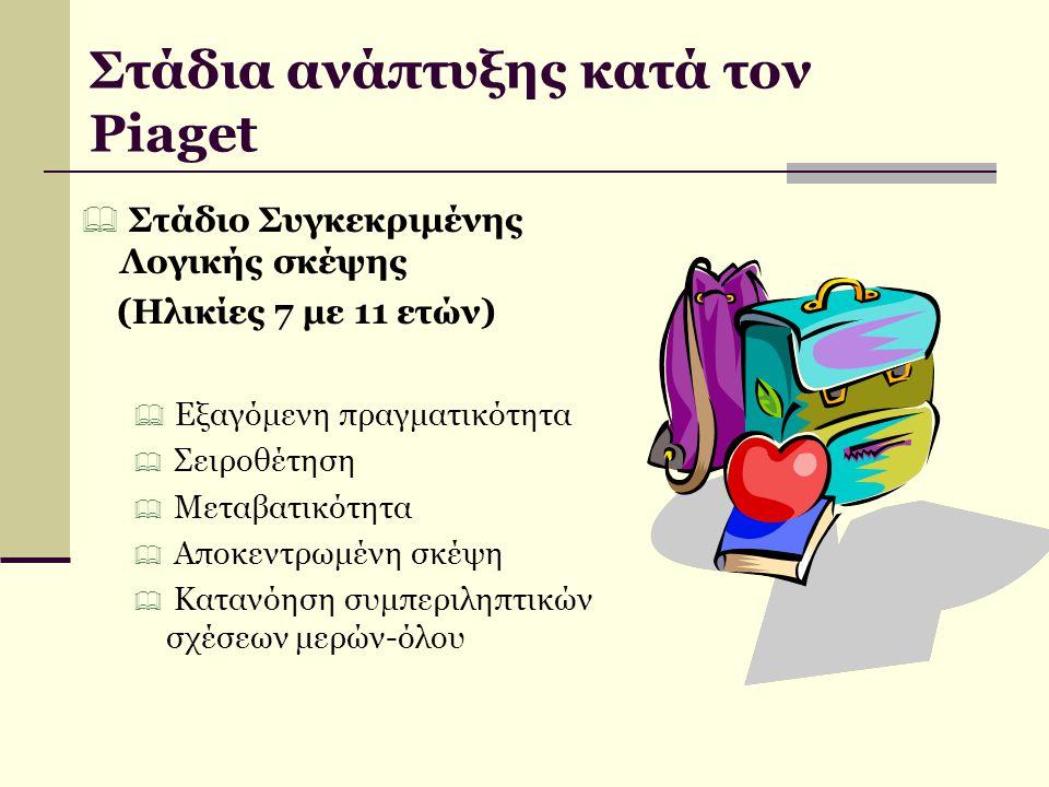 Στάδια ανάπτυξης κατά τον Piaget