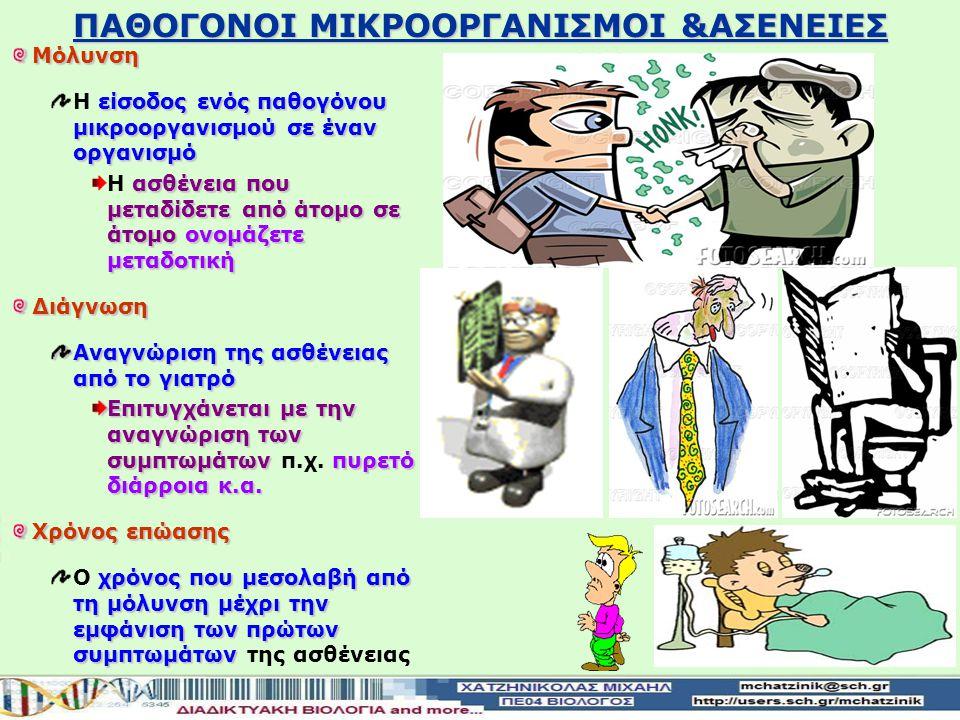 ΠΑΘΟΓΟΝΟΙ ΜΙΚΡΟΟΡΓΑΝΙΣΜΟΙ &ΑΣΕΝΕΙΕΣ