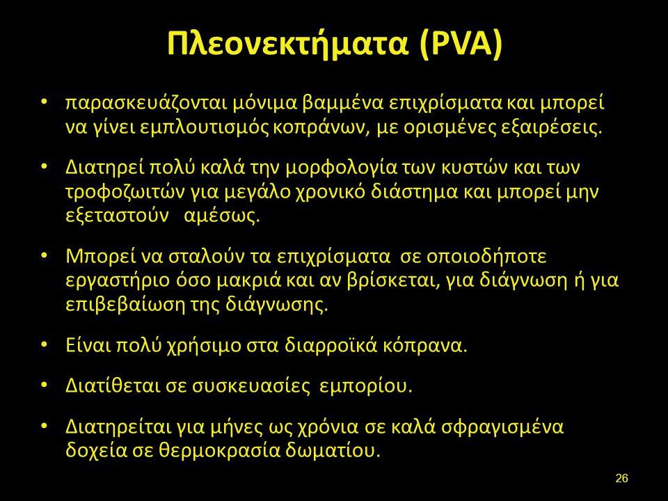 Μειονεκτήματα (PVA)