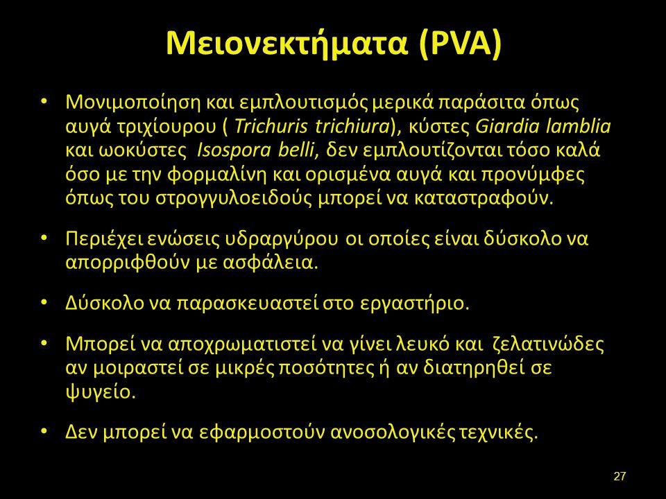 Τροποποιημένα διαλύματα PVA