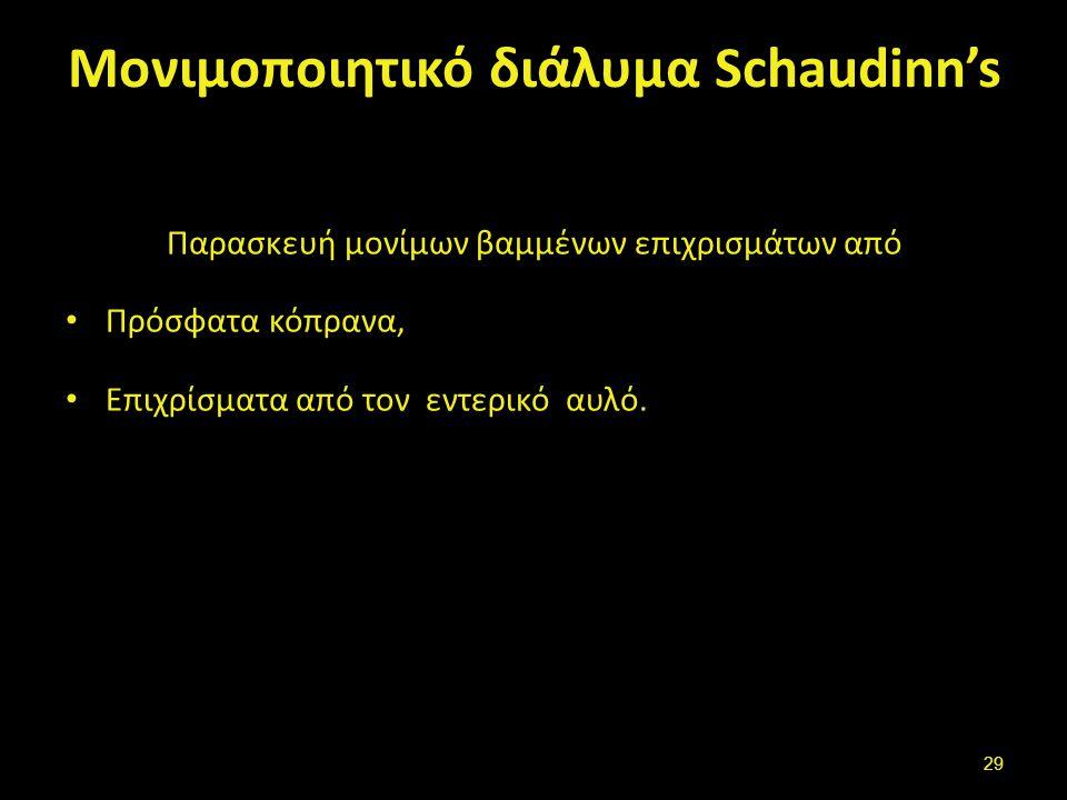 Πλεονεκτήματα (Schaudinn's)