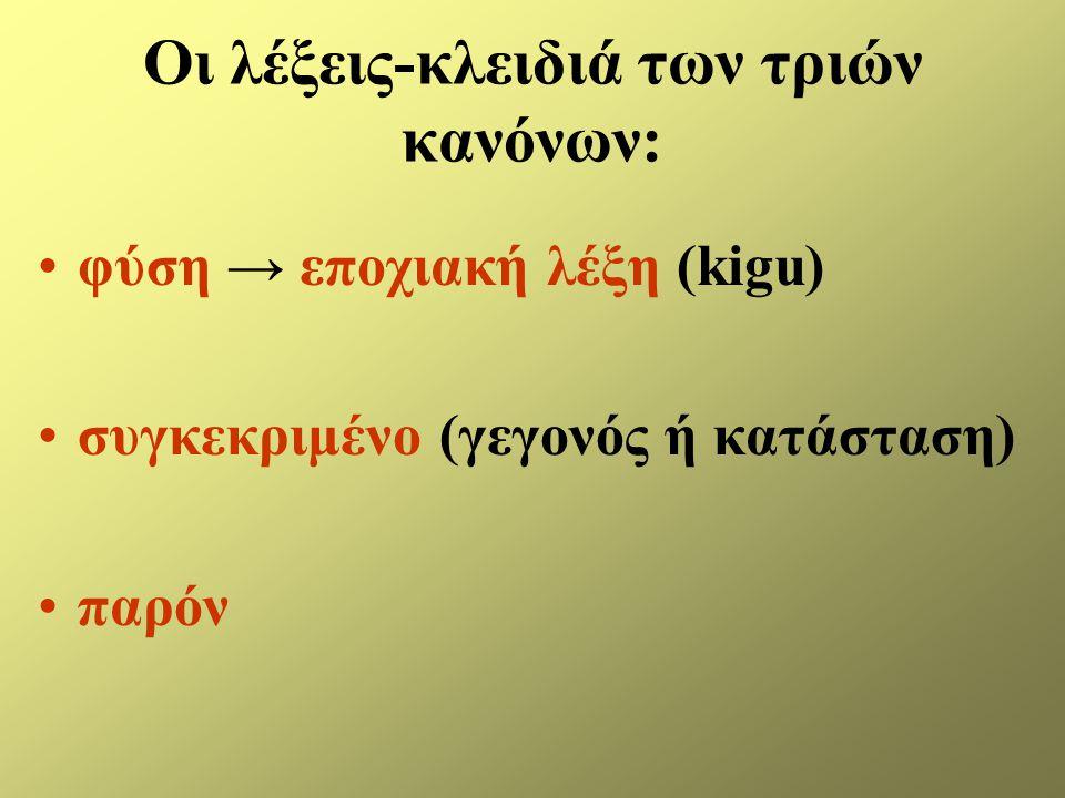 Οι λέξεις-κλειδιά των τριών κανόνων: