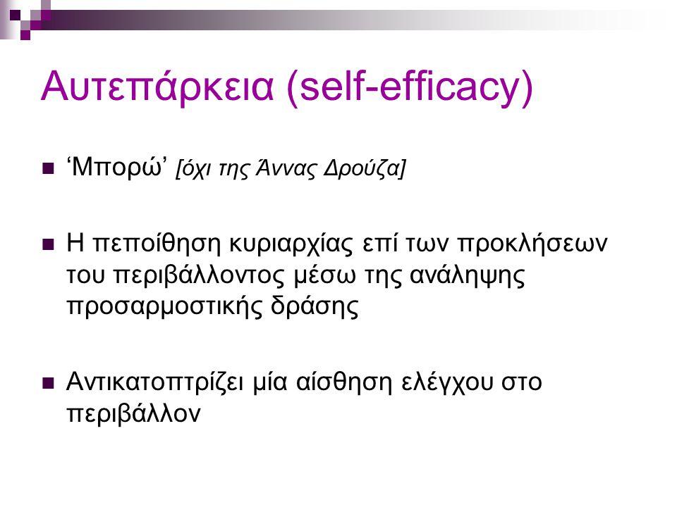 Αυτεπάρκεια (self-efficacy)