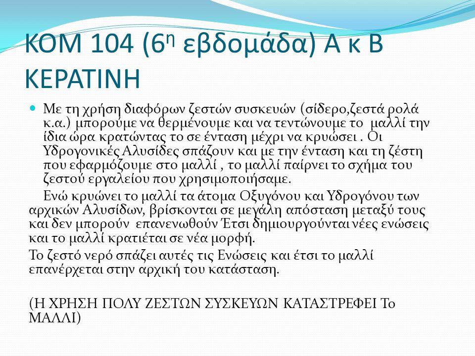 ΚΟΜ 104 (6η εβδομάδα) Α κ Β ΚΕΡΑΤΙΝΗ