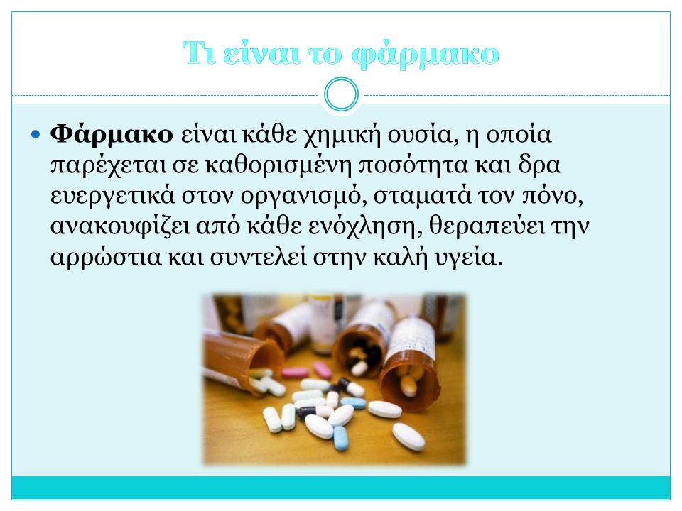 Τι είναι το φάρμακο