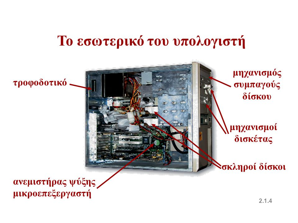 Το εσωτερικό του υπολογιστή μηχανισμός συμπαγούς δίσκου