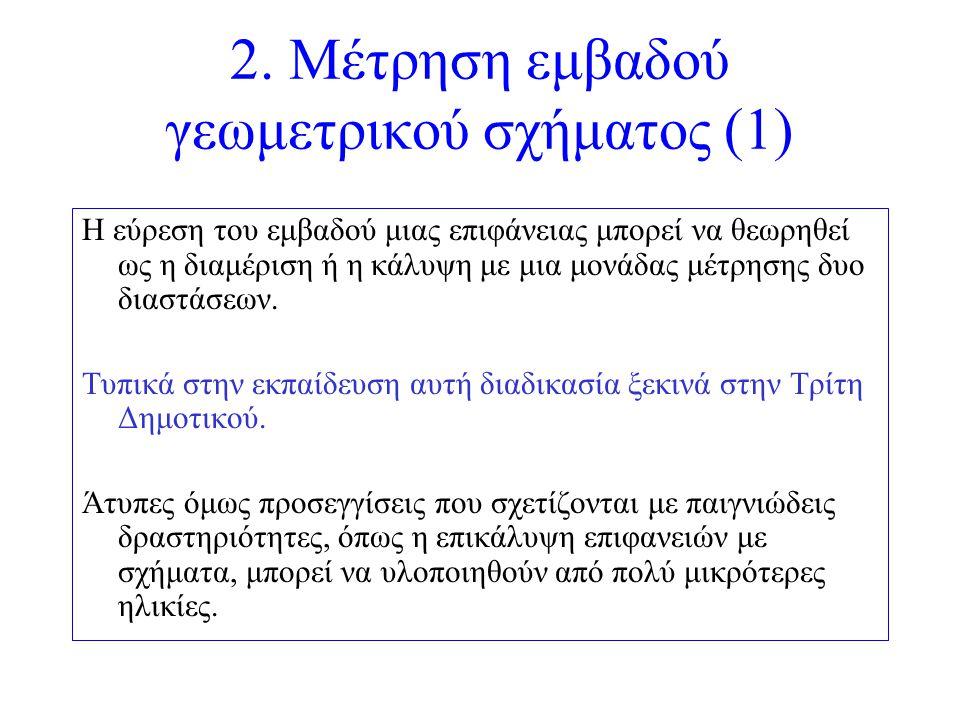 2. Μέτρηση εμβαδού γεωμετρικού σχήματος (1)