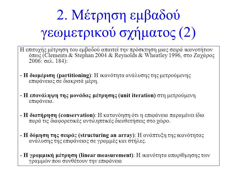2. Μέτρηση εμβαδού γεωμετρικού σχήματος (2)