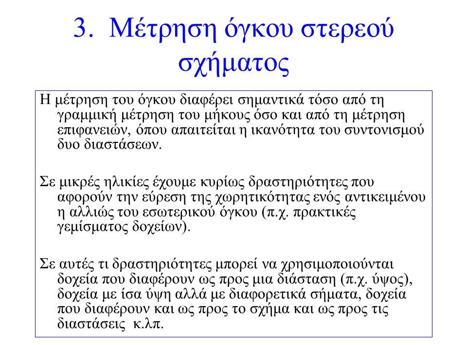 3. Μέτρηση όγκου στερεού σχήματος