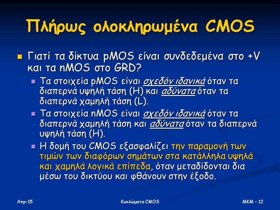 Πλήρως ολοκληρωμένα CMOS