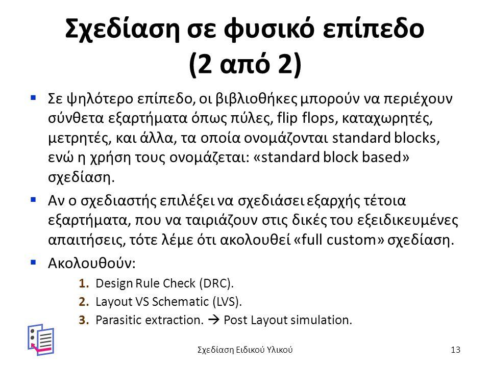Σχεδίαση σε φυσικό επίπεδο (2 από 2)