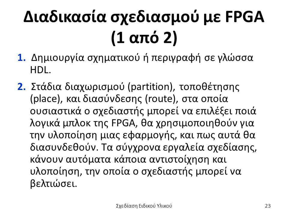 Διαδικασία σχεδιασμού με FPGA (1 από 2)