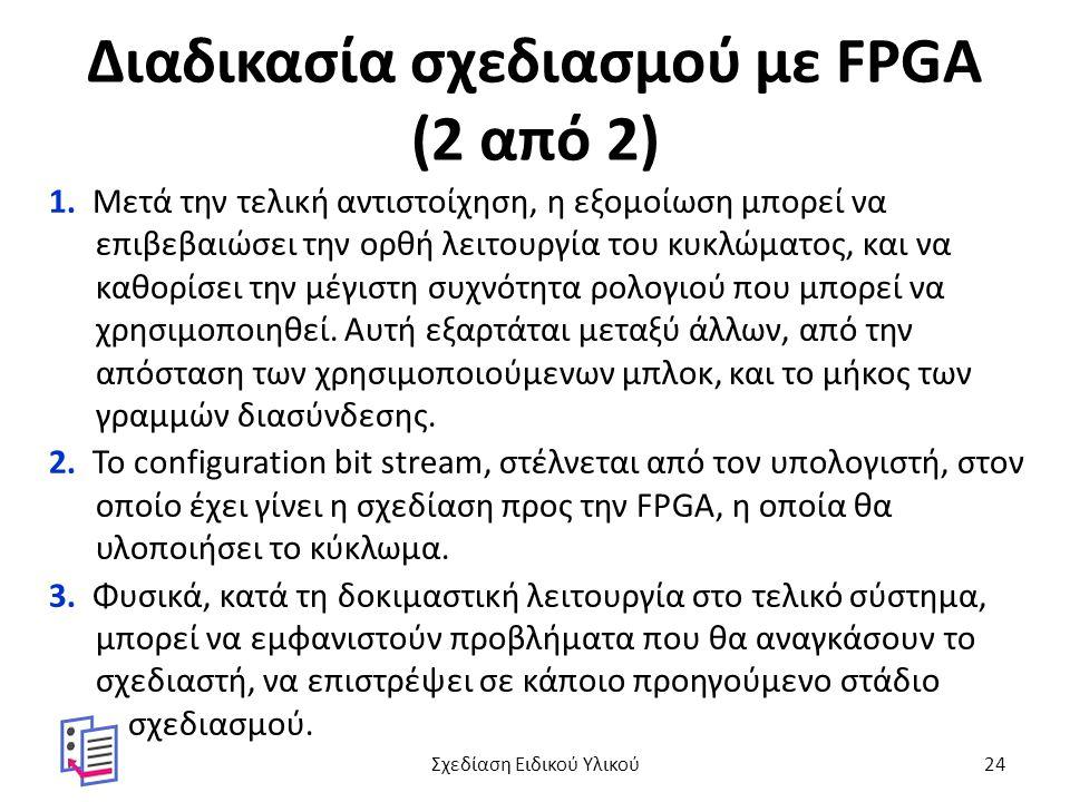 Διαδικασία σχεδιασμού με FPGA (2 από 2)